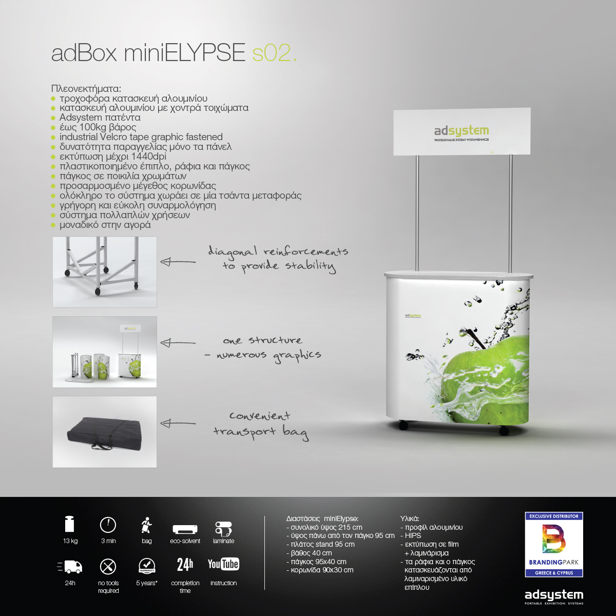 Promo stand adBox mini ELYPSE s02.