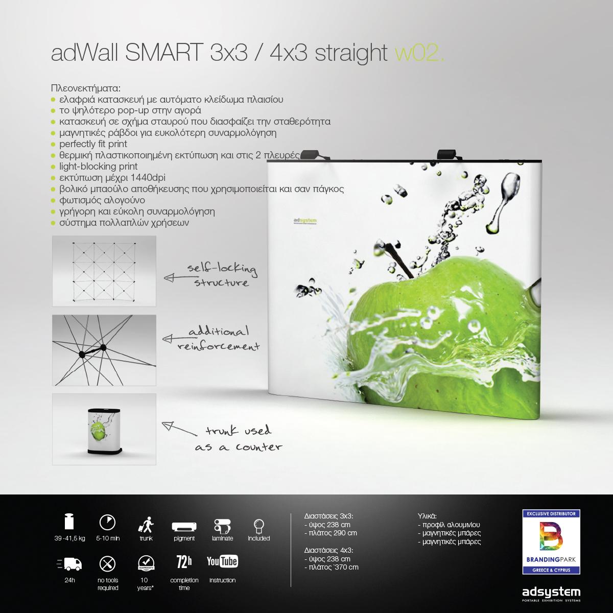 Σύστημα Αράχνης adWall SMART 3x3 / 4x4 STRAIGHT w02